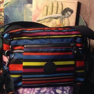 Kipling multi color crossbody purse organizer new